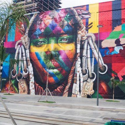 Passeio - Mural do artista Kobra chamado 'Etnias'